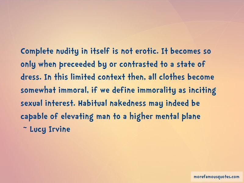 Lucy Irvine Quotes