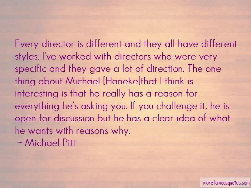 Michael Pitt Quotes