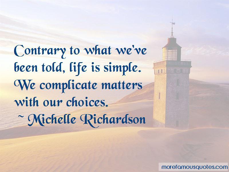 Michelle Richardson Quotes