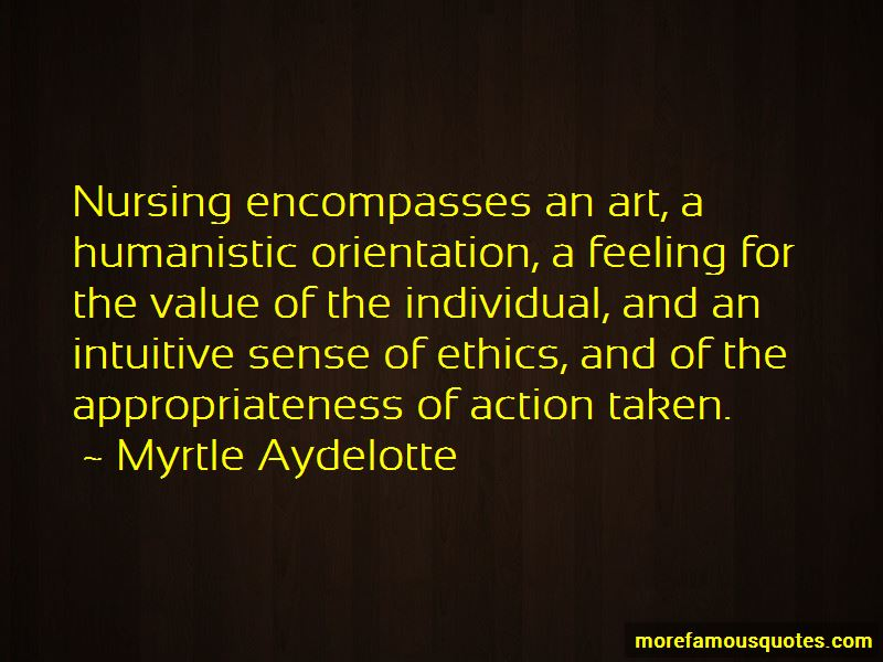 Myrtle Aydelotte Quotes