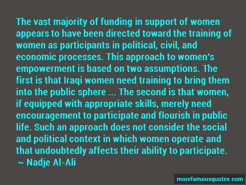Nadje Al-Ali Quotes Pictures 2