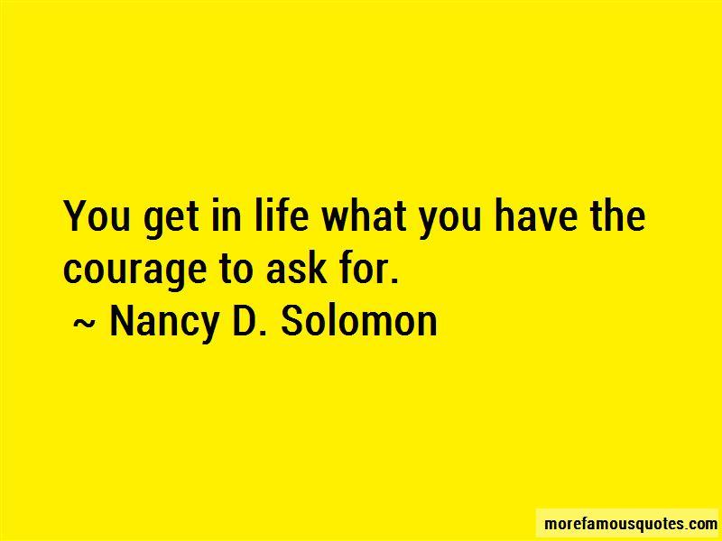 Nancy D. Solomon Quotes