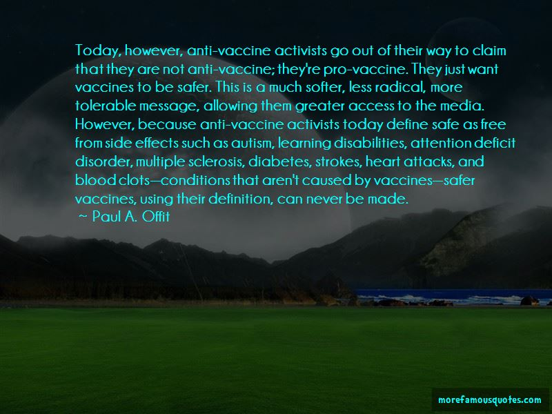 Paul A. Offit Quotes
