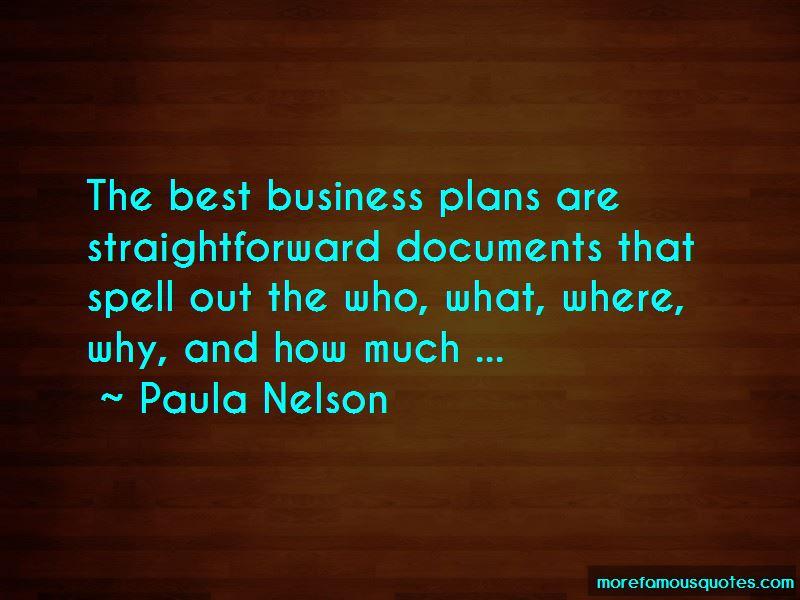 Paula Nelson Quotes