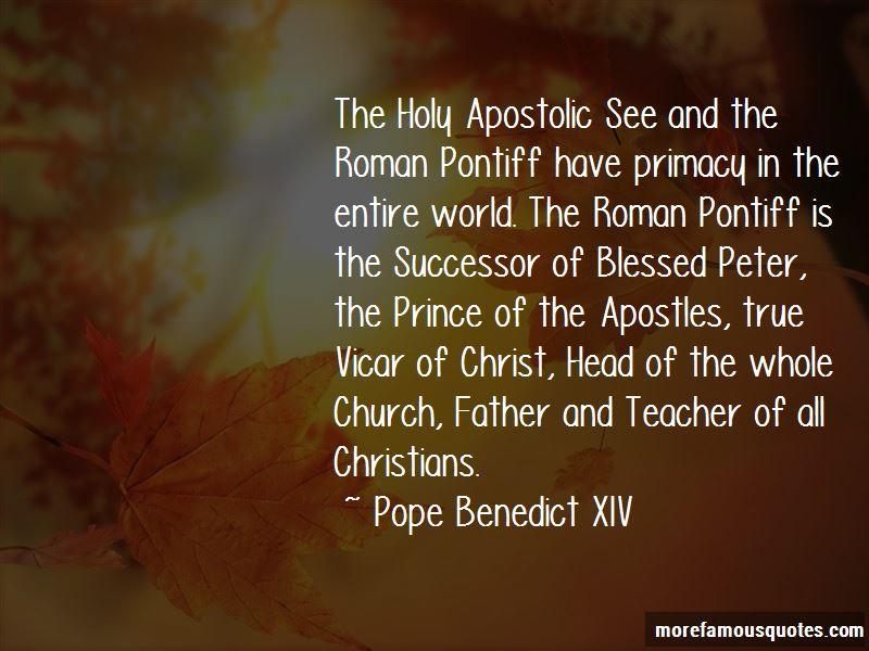 Pope Benedict XIV Quotes