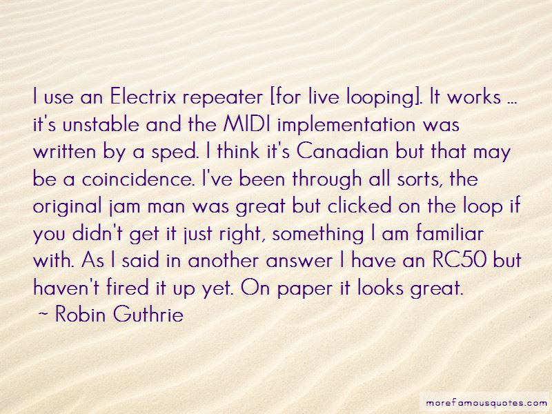 Robin Guthrie Quotes Pictures 2