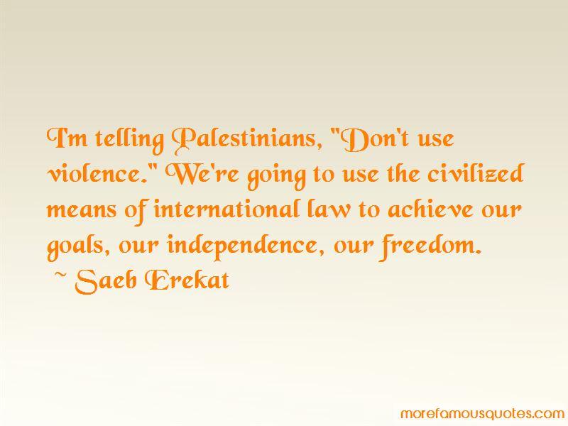 Saeb Erekat Quotes Pictures 2