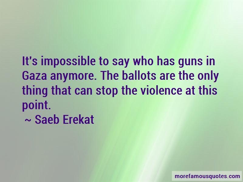 Saeb Erekat Quotes