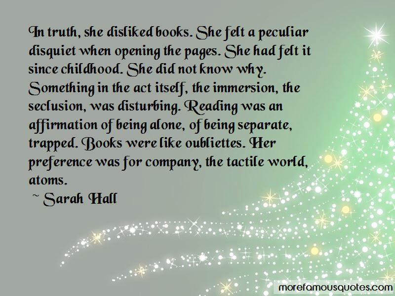 Sarah Hall Quotes