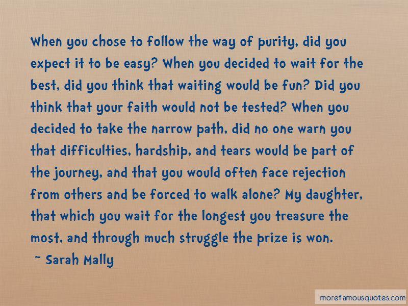 Sarah Mally Quotes