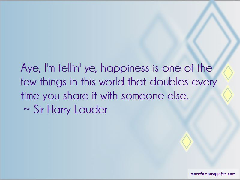 Sir Harry Lauder Quotes Pictures 3