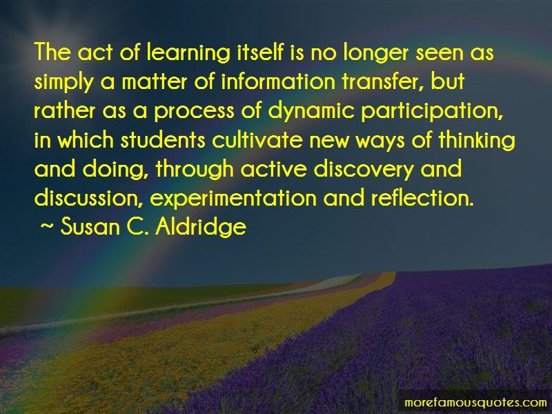 Susan C. Aldridge Quotes