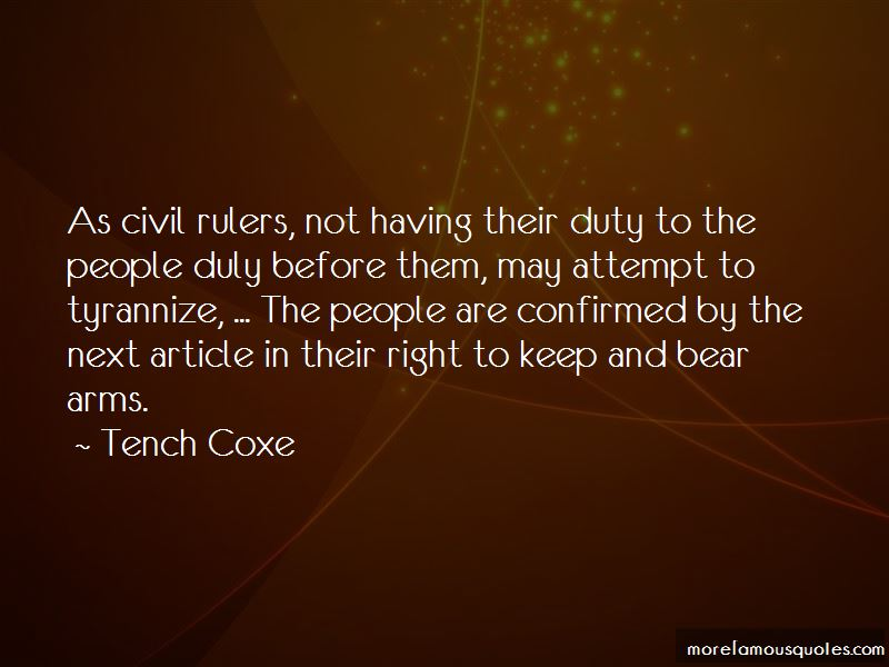 Tench Coxe Quotes Pictures 4