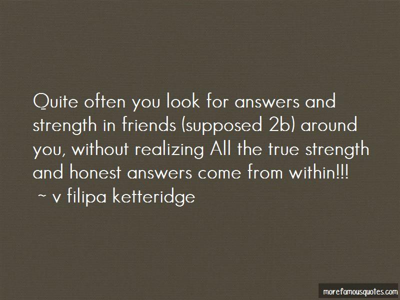 V Filipa Ketteridge Quotes