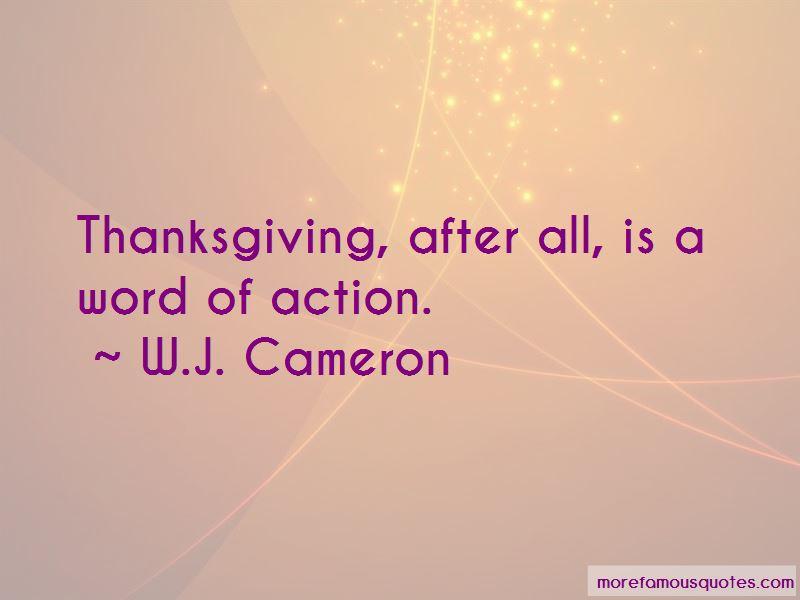 W.J. Cameron Quotes