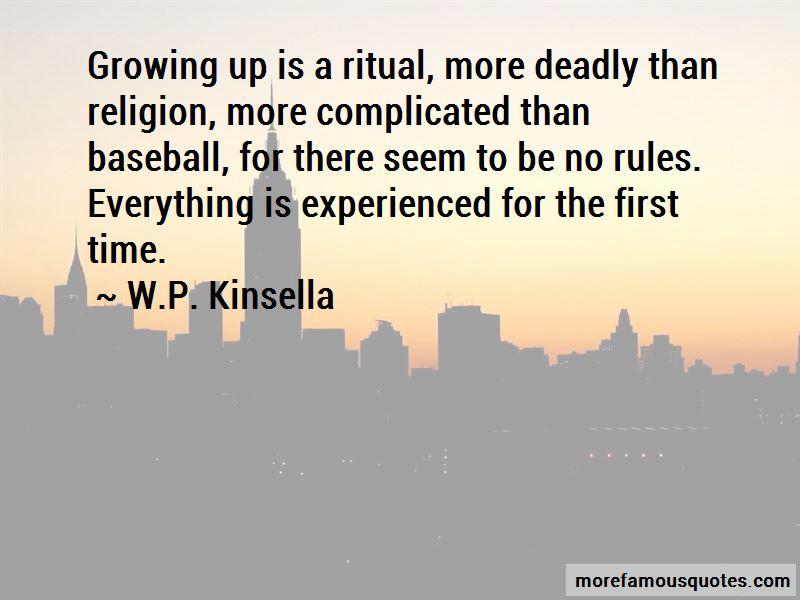W.P. Kinsella Quotes