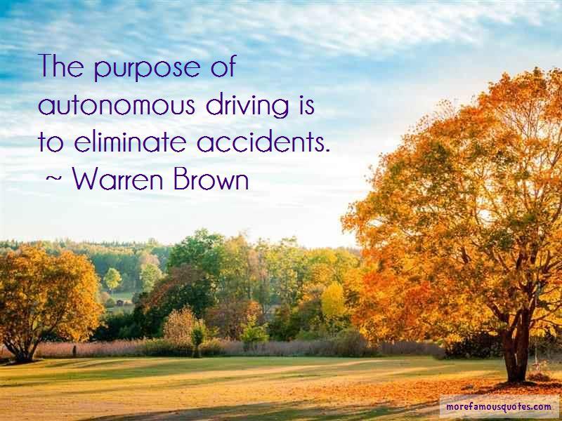 Warren Brown Quotes