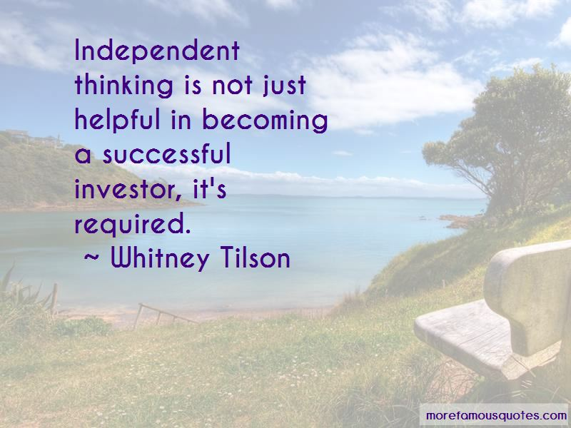 Whitney Tilson Quotes Pictures 3