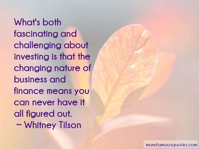Whitney Tilson Quotes