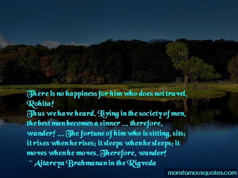 Aitareya Brahmanan In The Rigveda Quotes