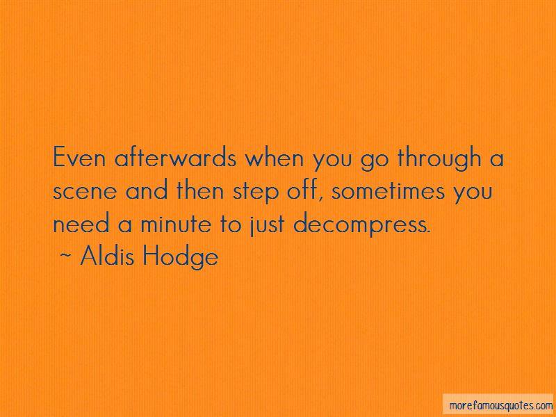 Aldis Hodge Quotes