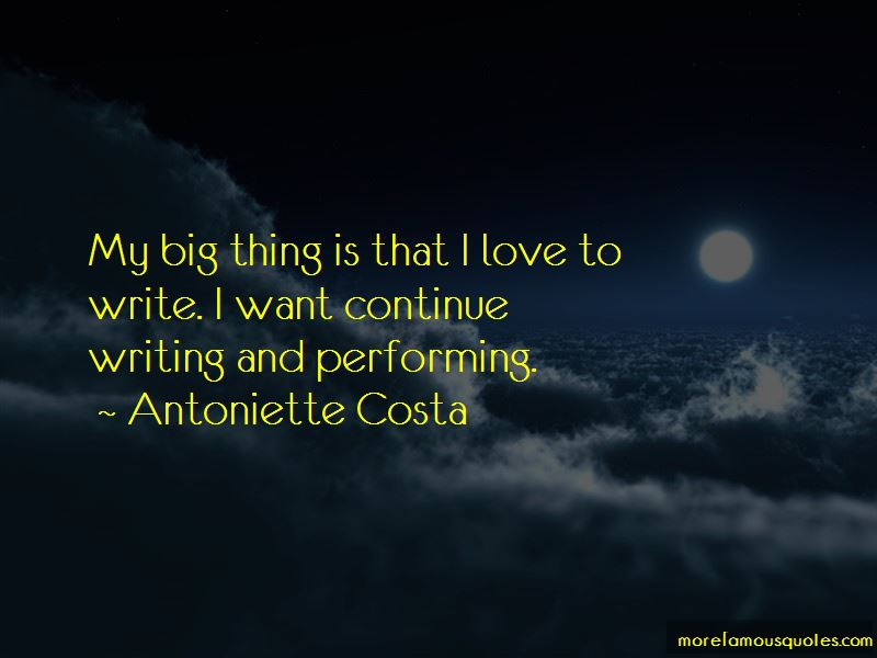 Antoniette Costa Quotes