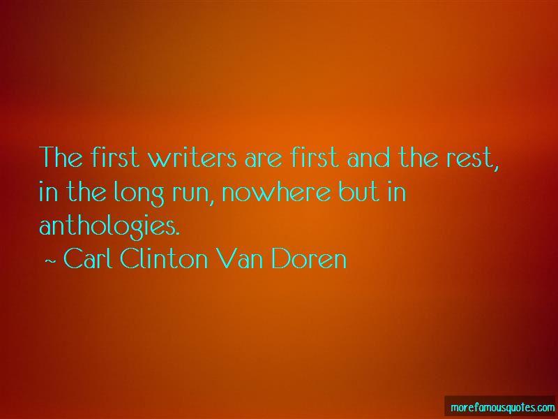 Carl Clinton Van Doren Quotes Pictures 4