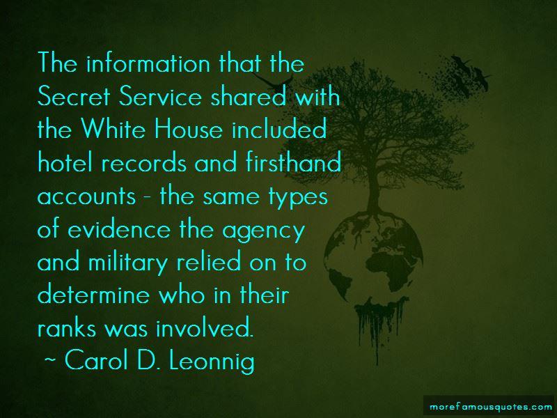 Carol D. Leonnig Quotes Pictures 3