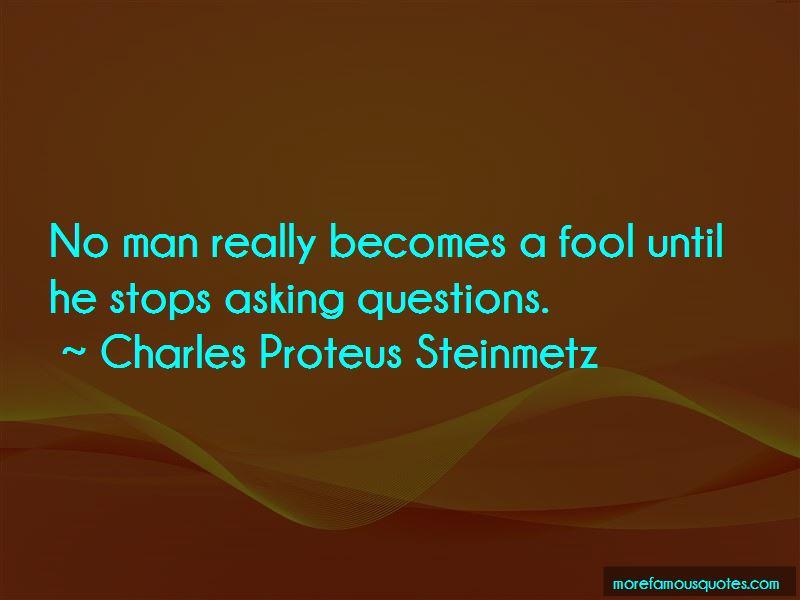 Charles Proteus Steinmetz Quotes