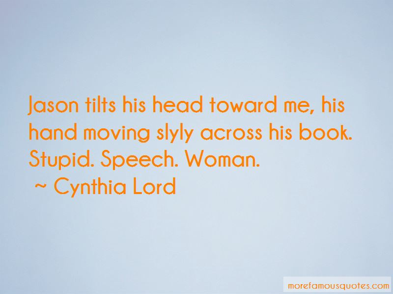 Cynthia Lord Quotes Pictures 2