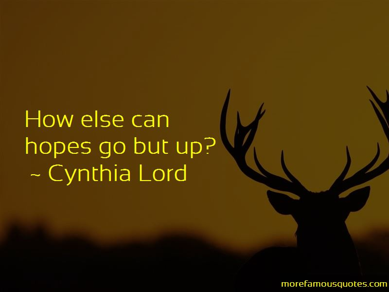 Cynthia Lord Quotes Pictures 3