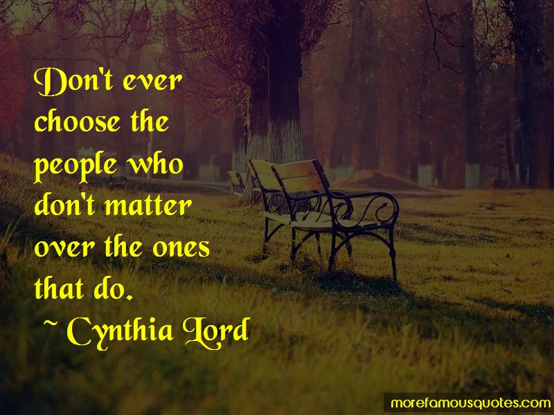 Cynthia Lord Quotes