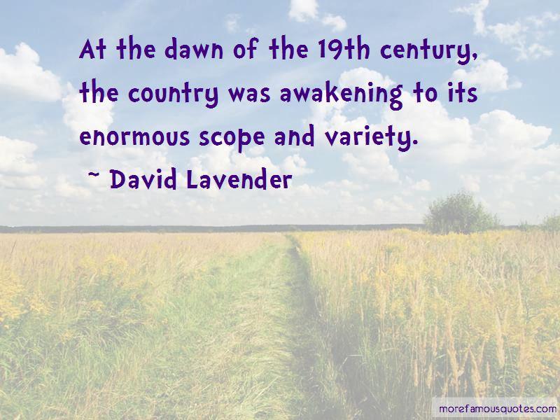 David Lavender Quotes