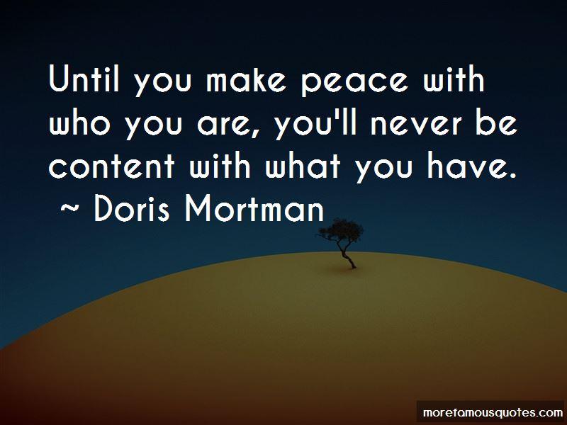 Doris Mortman Quotes
