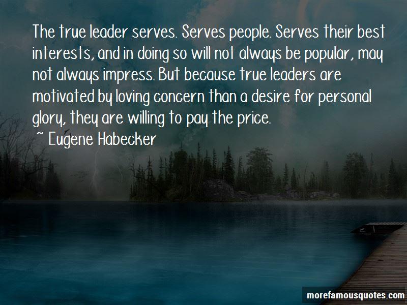 Eugene Habecker Quotes
