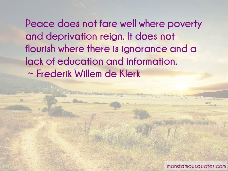 Frederik Willem De Klerk Quotes
