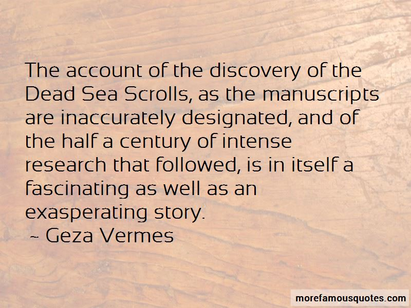Geza Vermes Quotes