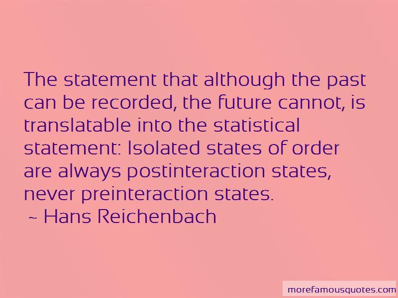 Hans Reichenbach Quotes