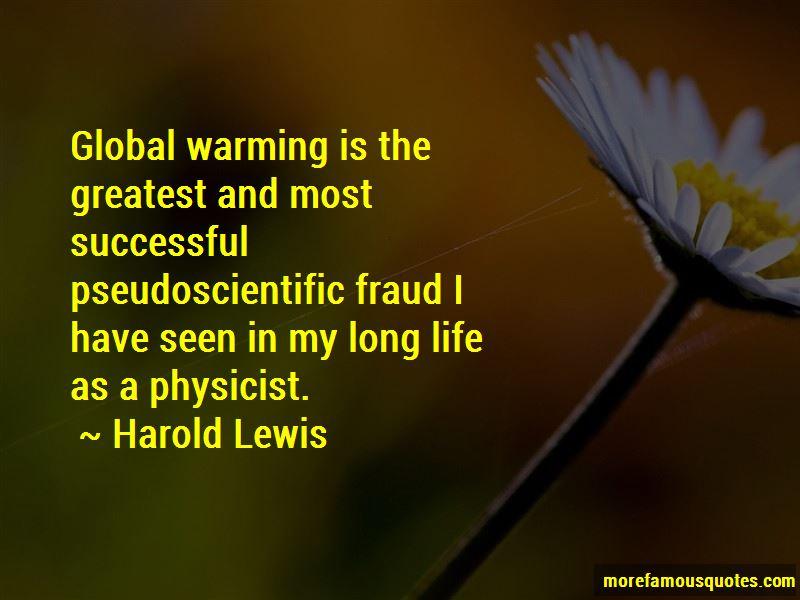 Harold Lewis Quotes