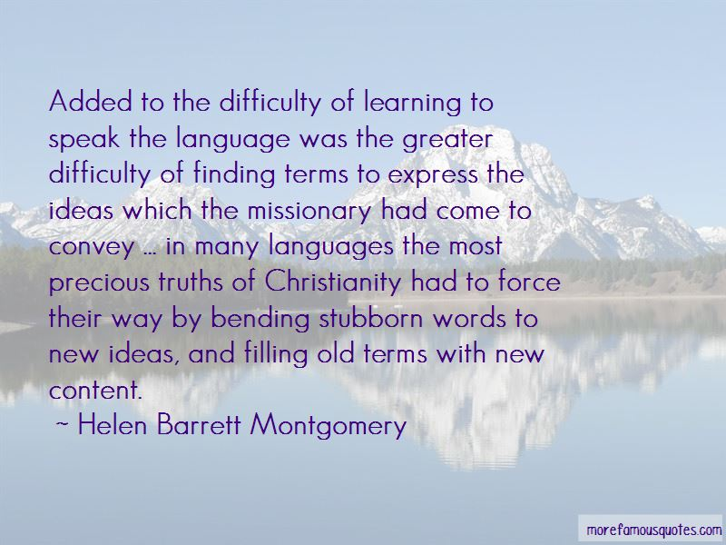 Helen Barrett Montgomery Quotes