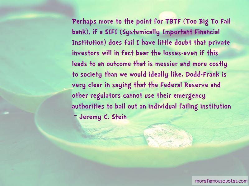 Jeremy C. Stein Quotes