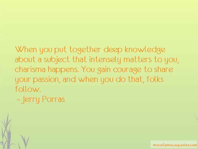 Jerry Porras Quotes
