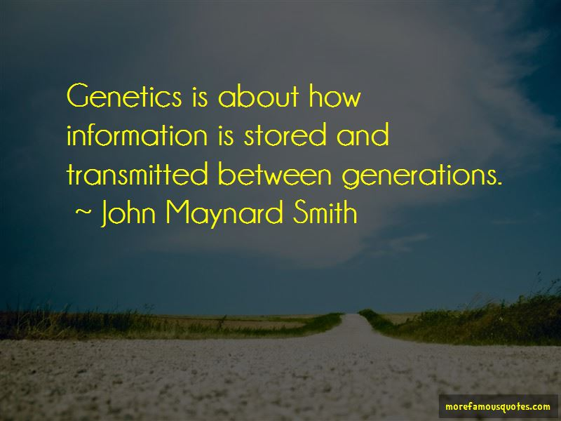 John Maynard Smith Quotes Pictures 4