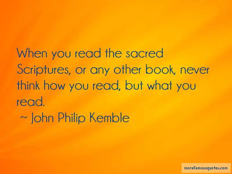 John Philip Kemble Quotes