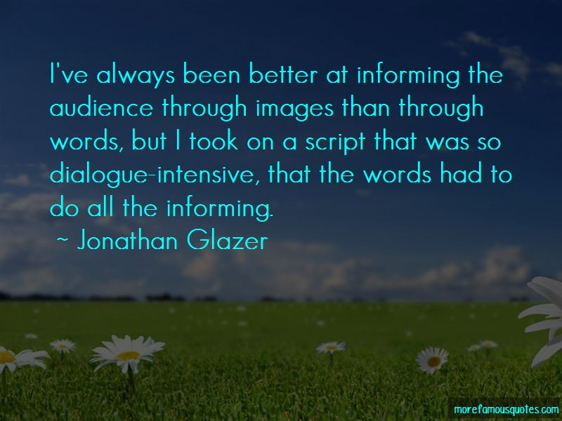 Jonathan Glazer Quotes Pictures 2