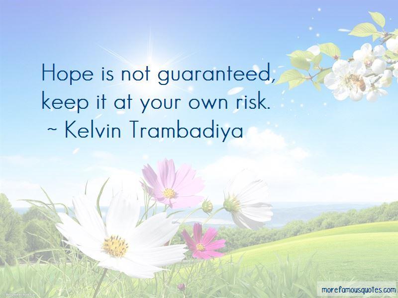 Kelvin Trambadiya Quotes Pictures 2