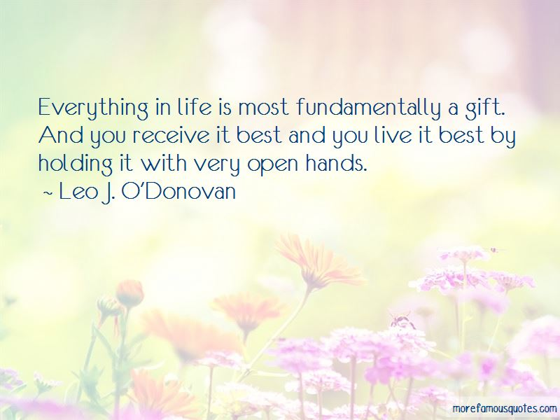 Leo J. O'Donovan Quotes