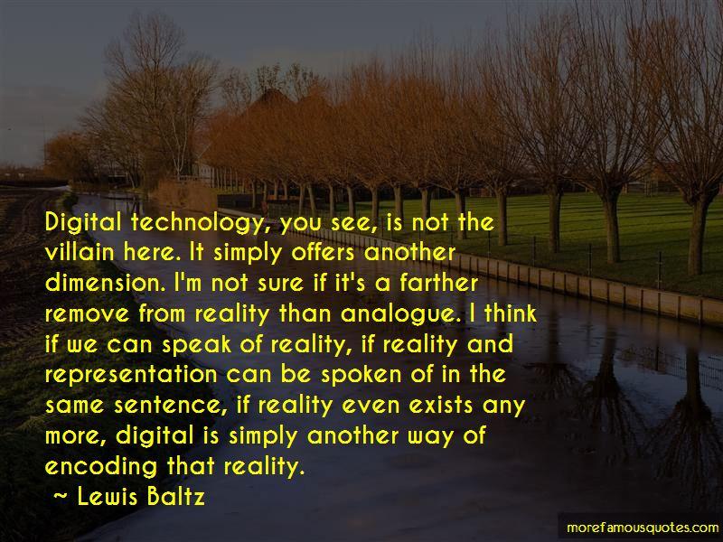 Lewis Baltz Quotes