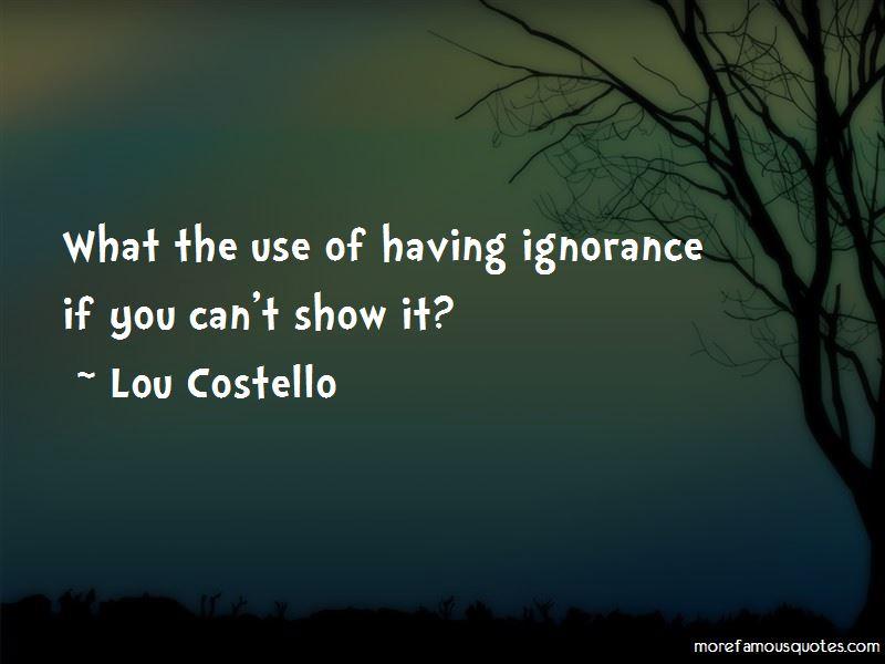 Lou Costello Quotes