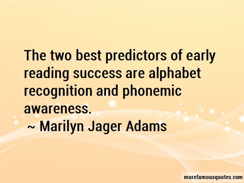 Marilyn Jager Adams Quotes Pictures 2